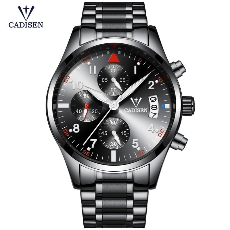 Cadisen Horloge Herenmode Sport Quartz Horloges Topmerk Luxe Volledig - Herenhorloges - Foto 2