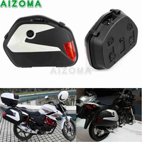 2x Motorcycle Pannier Side Case Luggage Cargo Tail Box Universal for Triumph Benelli TNT 250 300 899 Honda Suzuki Yamaha FZ FZR