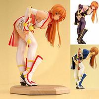 Free Shipping Sexy 8 Anime Game Dead Or Alive DOA Kasumi 3 Cool Bowed 21cm PVC Action Figure Collection Model Doll Toys Gift