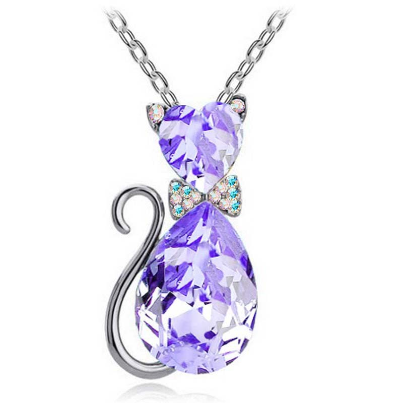 Cat Charm Necklace For Girls