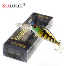 SEALURER Boxed 1Pcs/lot Fishing lures Float Crankbait Minnow  Excessive High quality Deal with  80mm  8.6g  Wobblers  with 6#  Hooks 3D Eyes