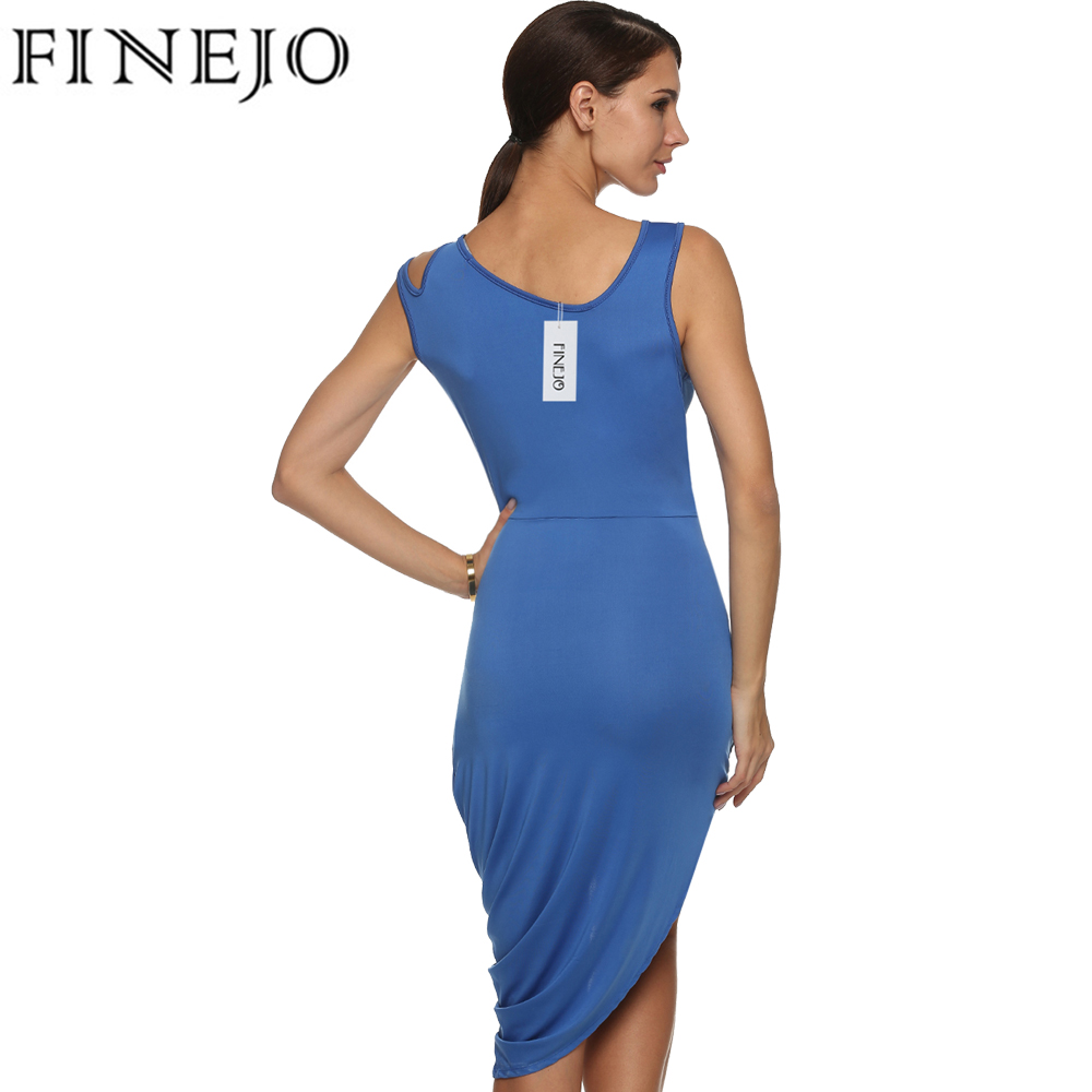 FINEJO Sexy Bodycon Party Dresses Hollow Out Chest Cocktail O Neck ...