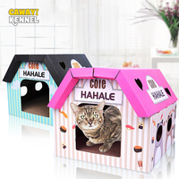 CAWAYI KENNEL Carton Combination Cat Cave House Pet Bed Cute Corrugated Paper House cama gato D1623