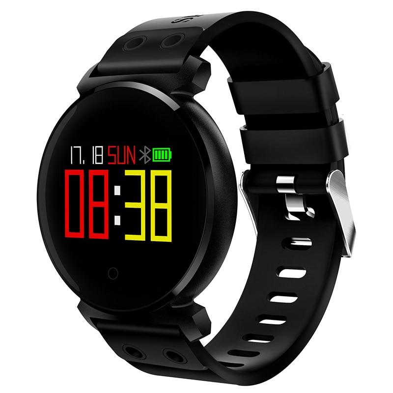 K2 Smartwatch IP68 Étanche Sport Intelligents Bracelet Coeur de La Pression Artérielle Moniteur de Fréquence 0.95 pouce OLED Écran Couleur Fitness Tracker