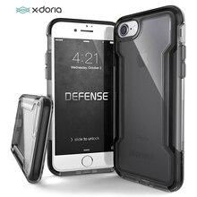 X Doria โทรศัพท์กรณีสำหรับ iPhone 7 8 PLUS Defense CLEAR ทหารทดสอบกรณีการป้องกันสำหรับ iPhone 7 8 ฝาครอบโปร่งใส