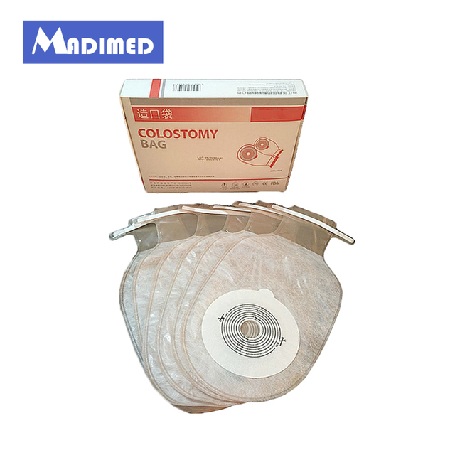 Madimed One Piece System Open Colostomy Ileostomy Bag Ostomy Drainable Pouch For Stoma Care