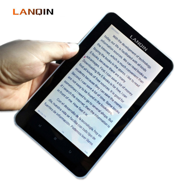 lanqin ebook reader with 16gb card memory 7inch touch screen digital
