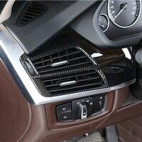 ABS 2 sztuk konsola środkowa zarówno po stronie wylot klimatyzacji rama naklejki dekoracyjne dla BMW X5 F15 X6 F16 2014 18 organizator samochodu w Listwy wewnętrzne od Samochody i motocykle na