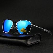 Piloto eua. re óculos de sol masculino qualidade superior designer marca randolph espelho agx temperado lente de vidro ao óculos de sol masculino tj115