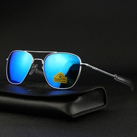Pilot USA.RE Sunglasses Men Top Quality Brand Designer RANDOLPH Mirror AGX Tempered Glass Lens AO Sun Glasses Male TJ115