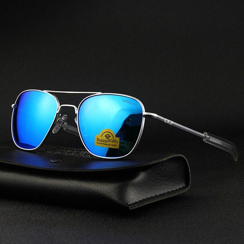 Piloto DOS EUA. RE Óculos De Sol Dos Homens Marca de Qualidade Top Designer de óculos de Sol Óculos de Lente de Vidro Temperado Espelho AGX AO RANDOLPH Masculino TJ115