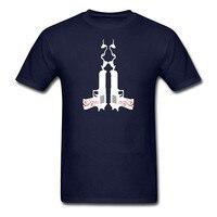 Printed Fashion Design Oversize Casual Men T Shirt Desert Eagle Twin Guns Clothes 100 Cotton T