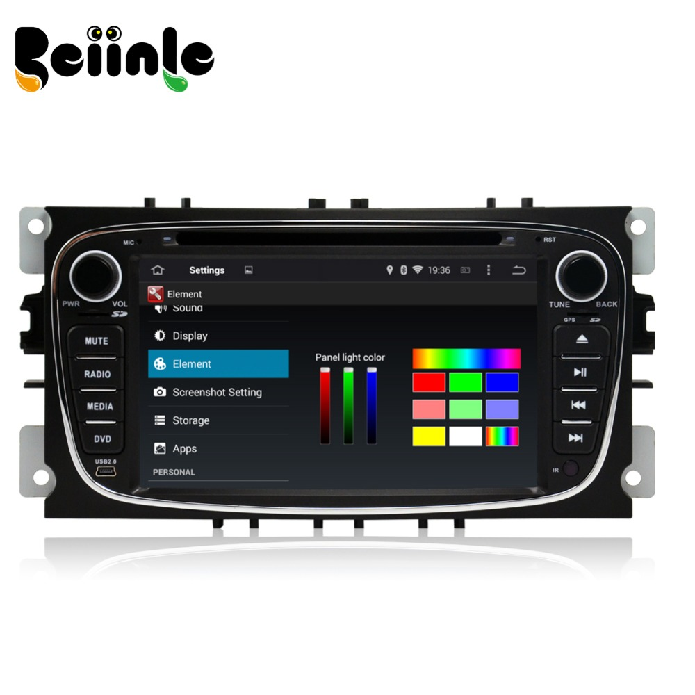 beiinle 7 39 39 car 2 din pure kitkat android dvd gps radio. Black Bedroom Furniture Sets. Home Design Ideas