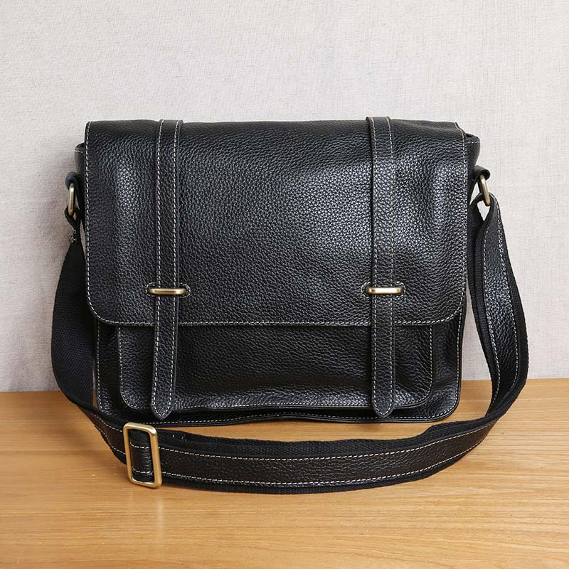 AETOO Shoulder bag men's leather cross section retro casual messenger bag men's bag top layer cowhide