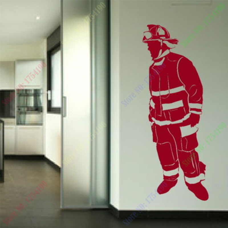 Us 479 20 Offfree Shipping Fireman Removable Vinyl Decal Art Wallpaper Mural Wall Sticker Home Decoration In Wall Stickers From Home Garden On