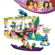 Bela Compatible Legoe giftse Girls Friends Heartlake Surfing Store 188pcs 41315 Строительные блоки DIY Кирпичи Игрушки для детей