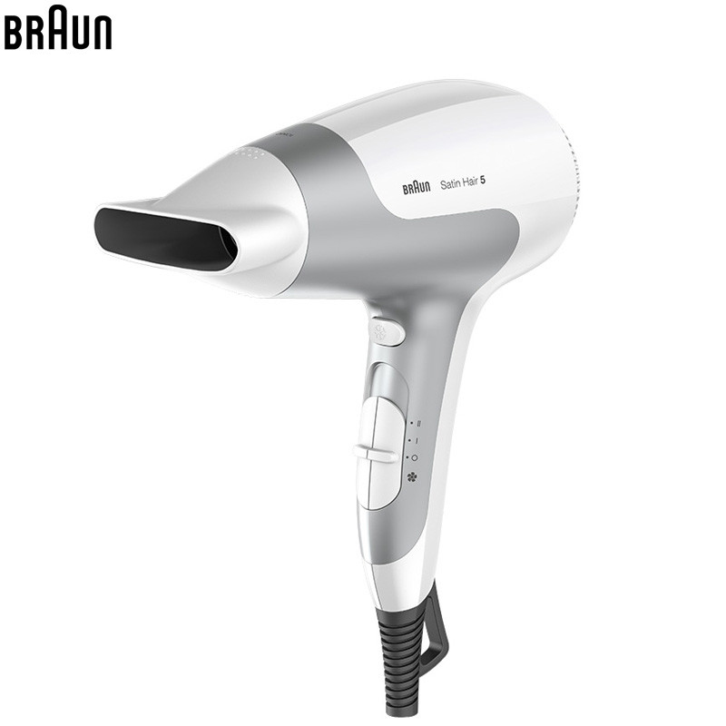 Braun HD580 unfoldable Handle Electric Anion Hair Dryer Ultra Quiet Fast Drying Sleek and Stylish Design Hair Protector dryer pet dog professional hair dryer ultra quiet high power stepless regulation of the speed drying machine 2400 w