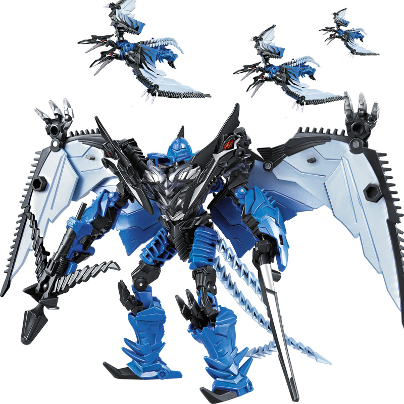 WEI JIANG Transformation The Toy King Kong Version Of The Steel Cable Dinosaur Robot Model Boy Toy