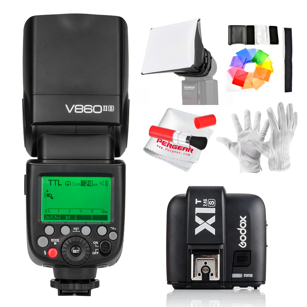 In Stock Godox V860II-S V860IIS TTL Speedlite Flash GN60 HSS 1/8000s Li-ion Battery+X1T-S ransmitter MI Shoe (Optional) for Sony godox v860iis flash speedlite 2 v860ii s ttl hss 2 4g li ion battery x1t s trigger for sony dslr cameras supon free gift kit