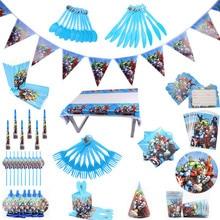 Cartoon Avenger Theme dekoracje na imprezę urodzinową Kids Boy jednorazowe zastawy stołowe zestaw serwetki puchar płyta prezent torba zaopatrzenie firm
