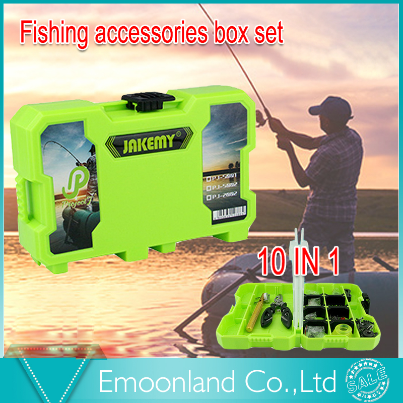 Good fishing tools 2016 multifunctional tool set with rod ring, float rubber, pliers, hook, pin, tackle Box gift for friend [randomtext category=