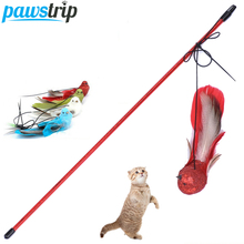 3pcs/lot Colorful Simulation Bird Toy For Cats 45cm Long Cat Teaser Wand Toy