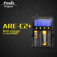 Original Fenix ARE C2 Plus Li ion NiMH Nicd Smart AC DC Battery Charger for RCR123 18650 16340 14500 26650 C AA AAA Battery
