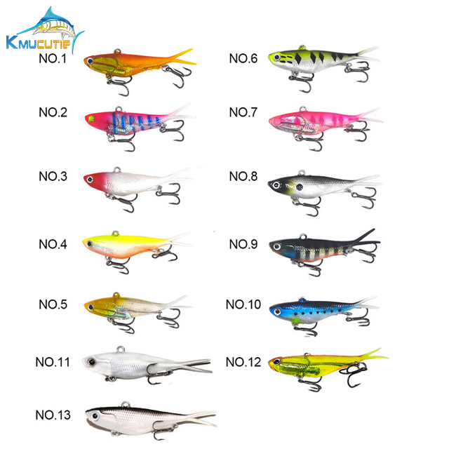 10pcs 95mm Soft Vibe Bulk Mad Mullet Stretch Fishing Lures Barra Lures Rubber soft vib lead baits 13 colors