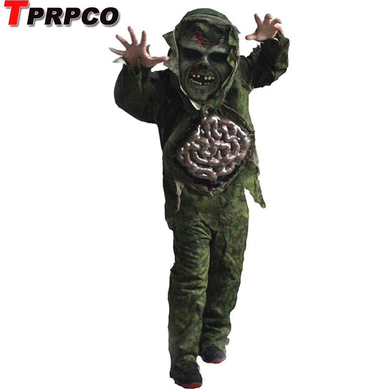 TPRPCO children kid boy Halloween cosplay Scary Zombie ghost large Intestines costume Horror Swamp Party Props NL166