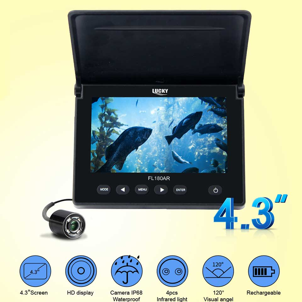 Unterwasser angeln kamera fisch finder HD Farbe display 20 M Draht fisch kamera 8G SD Tragbare video kamera Unterwasser bau