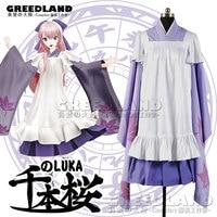 Anime New Senbonzakura Vocaloid LUKA Cosplay demoiselle Costume Cosplay Kimono Hot vente Japanese cartoon