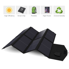 Panneau solaire 40 W USB + DC Double Sortie Panneau Solaire Chargeur pour iPhone iPad Macbook Samsung Sony VAIO Dell HP Acer Lenovo Asus etc.