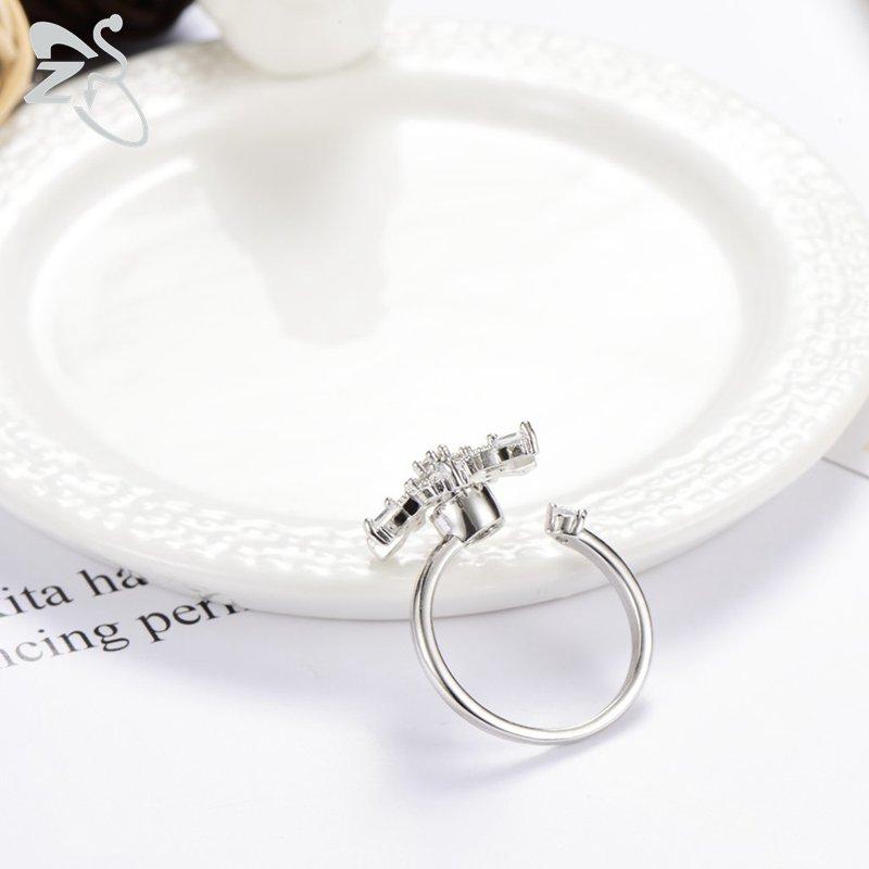 Romantic Snow Flower Rings
