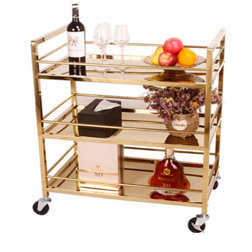 Hotel ktv bebidas carrinho de rolamento barra carrinho chá trole mesa vinho sobremesa chá trolly frete grátis - 2