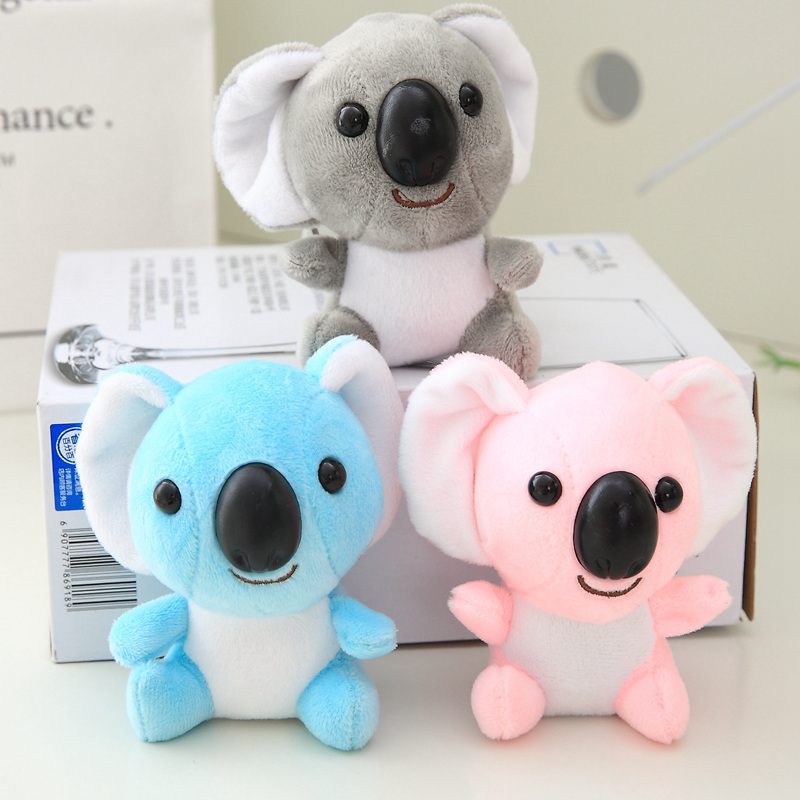 Kawaii Mini Plush Toys Stuffed Animals Fluffy Super Cute Koala Bear Plush Adventure Koala Doll Birthday Gift Key Chain Pendant