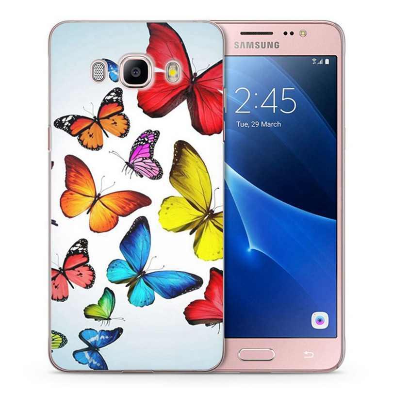 Caso para Samsung Galaxy A3 A5 2016 de 2015, 2017 J1 J2 J3 J5 TPU suave mariposa cráneo caso pintado c030