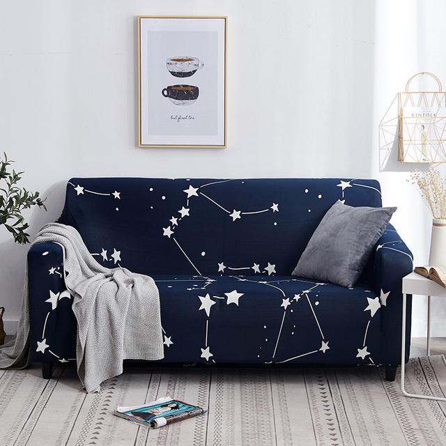 Fine Us 4 5 43 Off White Blue Plaid Colors Sofa Cover Elastic Cotton Stretch Slipcovers Sofa Couch Corner Cover Sofa Covers For Living Room 1Pc In Sofa Theyellowbook Wood Chair Design Ideas Theyellowbookinfo