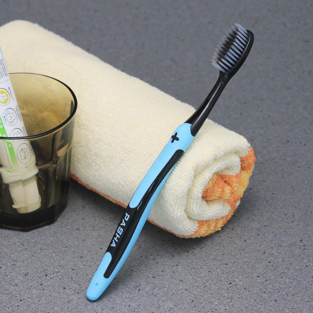 PASA 1 шт. двойная ультра мягкая бамбуковая древесный уголь нано зубная щетка черная зубная щетка стоматологическая Личная забота зубная щетка черная зубная щетка