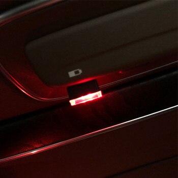 1Pc USB del coche atmósfera lámpara para Chevrolet Cruze Captiva Matiz TRAX Aveo Sonic Lova navegar EQUINOX Impala de