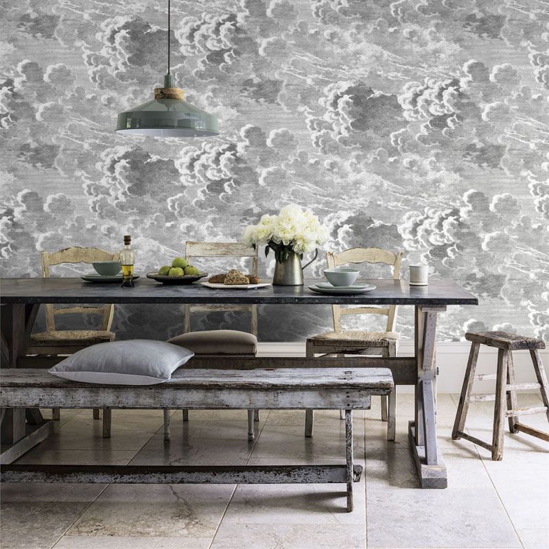 Vintage Retro Clouds Or Spray Art Mural Wallpaper For Living Room Kitchen Room Wall Decoration Wholesale