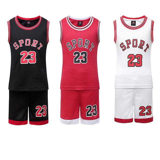 dbebb0bd86d Student Football Uniform Tracksuit Set Baby Sport Jerseys Kids Boys Team  Basketball Jersey Suits Soccer Clothes Set Uniform Set