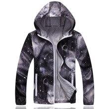 1pcs Men plus size jackets coats 2017 Hot Spring Breathable Prints Prevent bask in ultra-thin Coats Man Travel jacket coats boys недорого