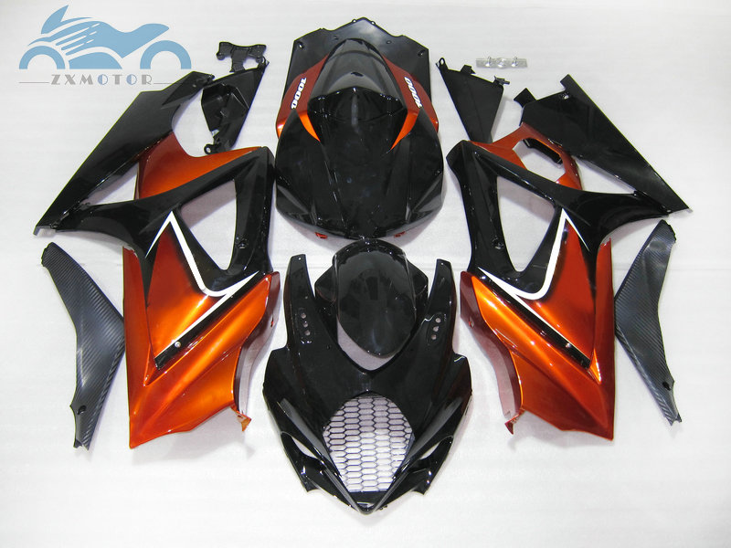 Custom Motorcycle Fairing <font><b>kits</b></font> for <font><b>Suzuki</b></font> GSXR 1000 <font><b>GSXR1000</b></font> 2007 2008 K7 <font><b>K8</b></font> ABS plastic fairings <font><b>kit</b></font> 07 08 red golden image
