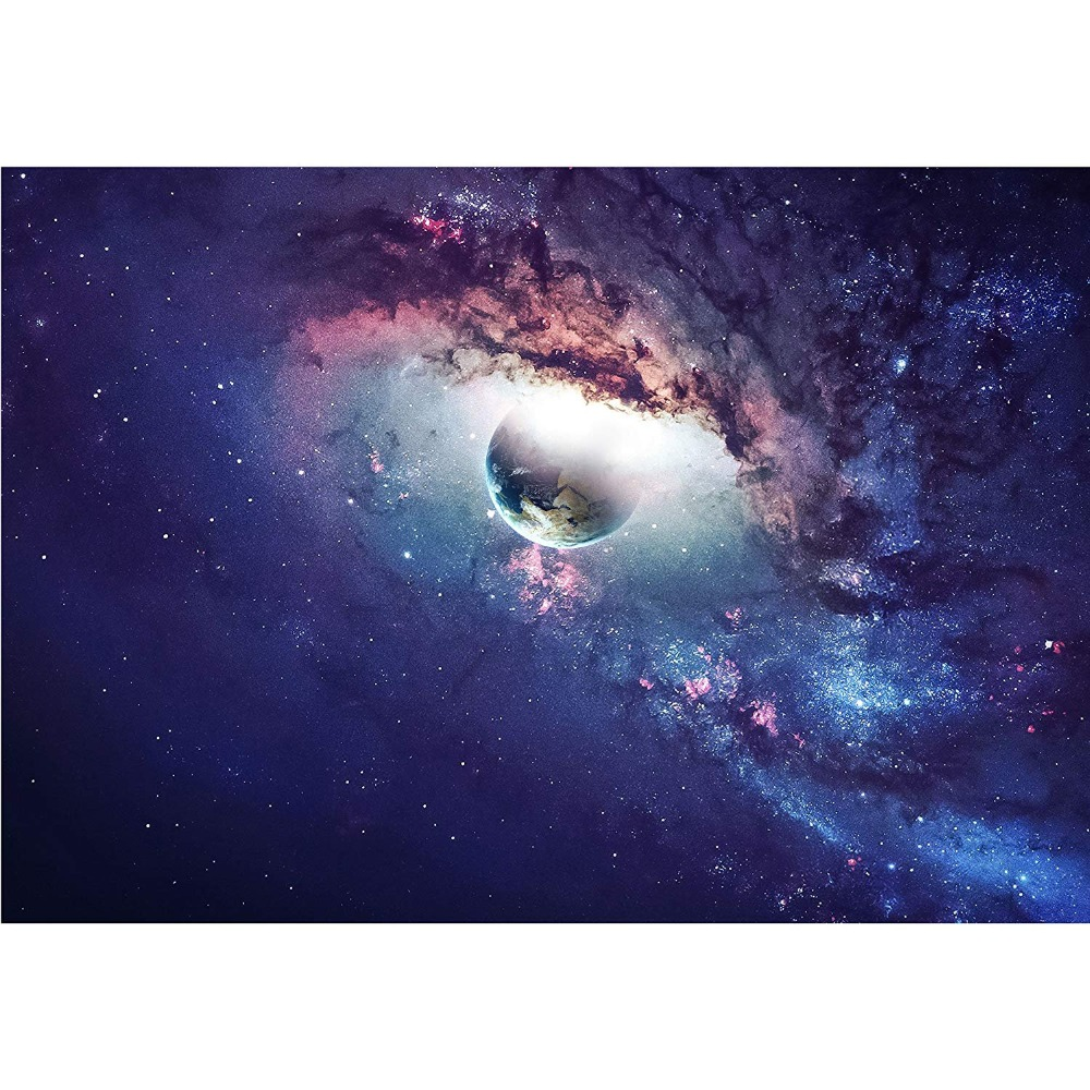 Kustom 3D Foto Wallpaper Alam Semesta Adegan dengan Planet Planet Bintang dan Galaksi Di Luar Angkasa