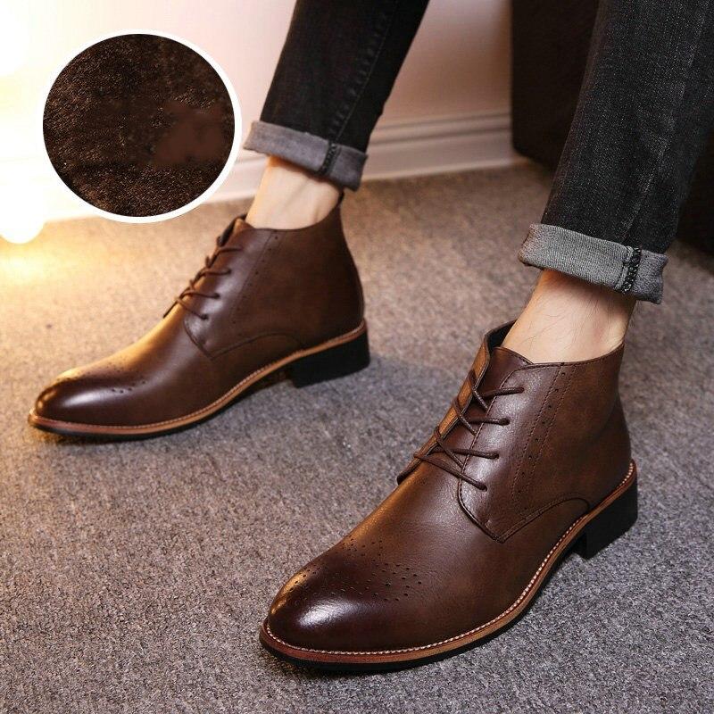 80182acad0 Cuero dark Moda Cotton light De Lace Hombre Alto Brown Cotton black light  Calzado Brown Zapatos ...