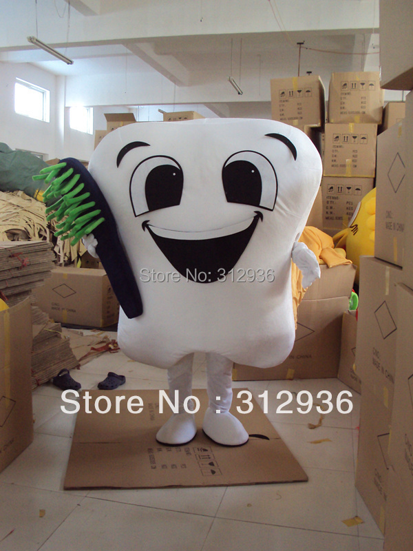 Dr. Toothbrush Mascot Costumes For Adults Christmas Halloween Outfit Fancy Dress Suit Free Shipping Teeth, Tooth 2019New image