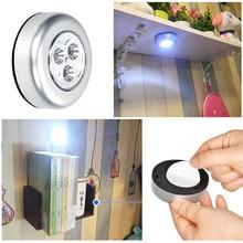 Светодиодный сенсорный светильник, ночник, энергосберегающий светильник на батарейках, настенный светильник для дома, кемпинга, шкафа, лестницы, светильник, Прямая поставка