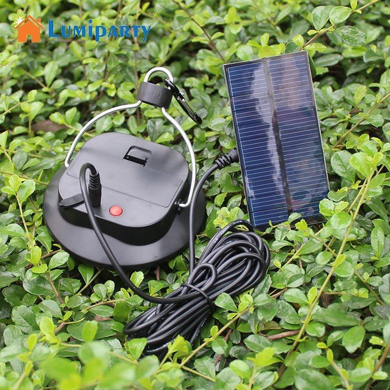 LumiParty 30 LED Solar-Powered Camping Licht Hause Notfall Lampe Tragbare Lampe Licht Zelt Angeln Licht