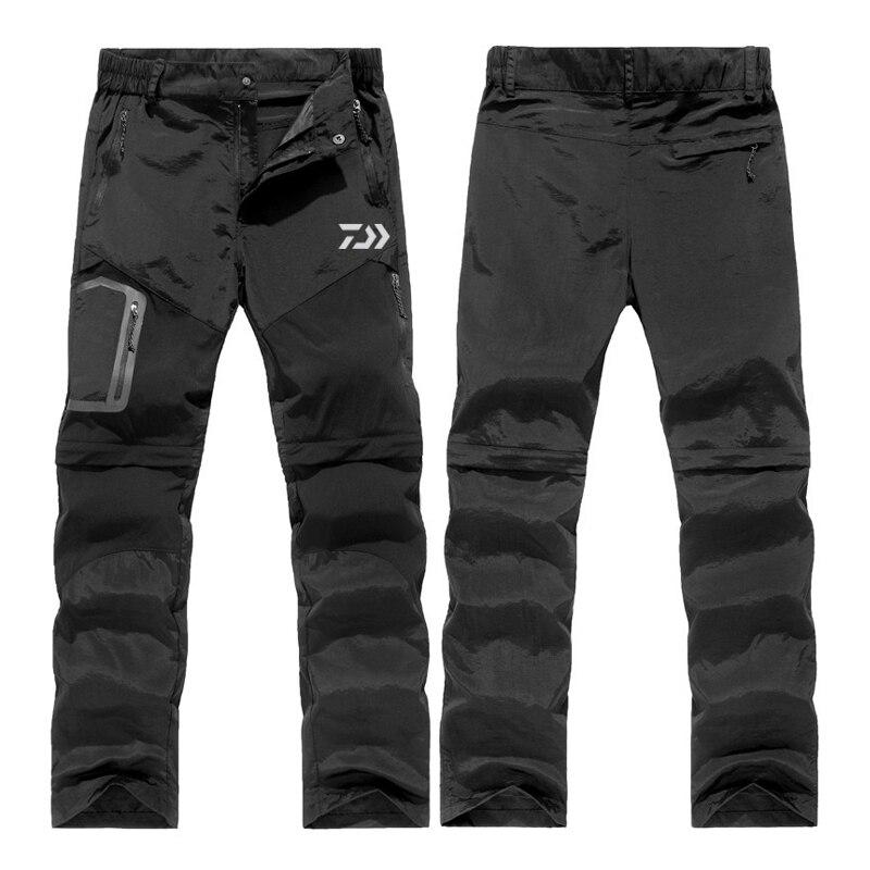 1 PC 2019 nouveau pantalon d'extérieur pour hommes été randonnée pantalon détachable imperméable pêche pantalon pour Trekking, Camping S-3XL