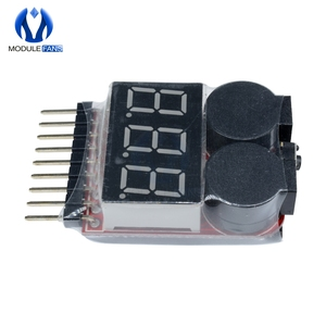 Новый тестер напряжения 1-8S Lipo Li-Ion Fe, 2 в 1, Индикатор низкого напряжения, сигнал тревоги для радиоуправляемой машины, лодки, LED 3,7-30 в, двойной динамик